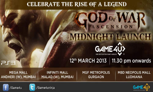 God of War: Sony India, Game4u To Celebrate Mid Night Launch Next Week