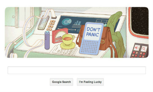 Google Celebrates 61st Birthday of Douglas Adams With a Geeky Doodle