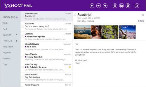 Yahoo Mail for Windows 8 Updated to Work on all of its Platforms