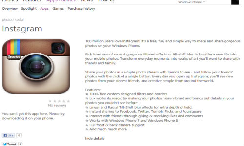 Instagram for Windows Phone Revealed By Leaked Screenshot