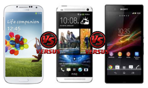 Samsung Galaxy S4 vs HTC One vs Sony Xperia Z: Flagship Face Off