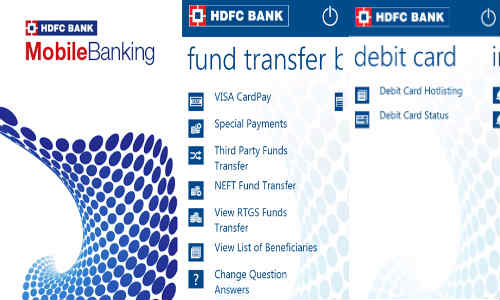 HDFC Bank Windows Phone Mobile Banking App Now Available for Download