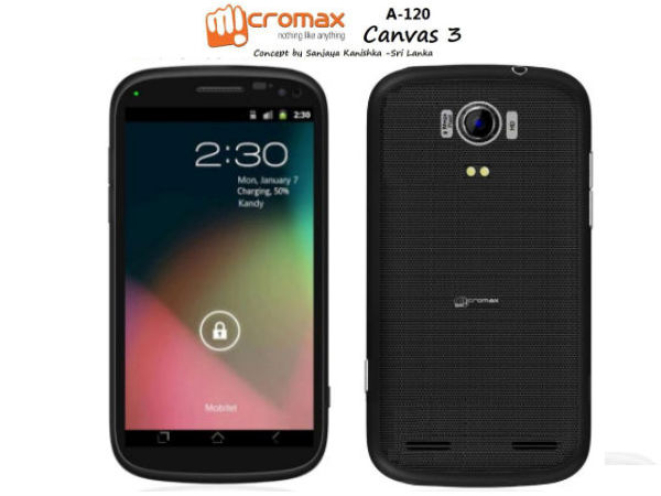Micromax A120 Canvas 3 Concepts