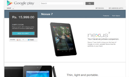 Nexus 7 Hits India at Rs 15999: Google Price War