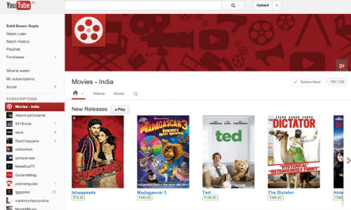 After Google Play Movies, YouTube Rentals Go Live in India