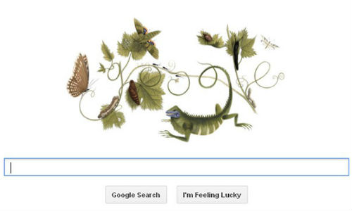 Google Honors Maria Sibylla Merian 366th Birthday With a Doodle