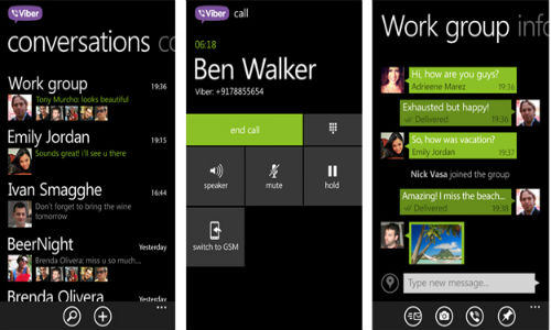 Viber App For WP8 Handsets Updated with New UI and HD Audio Support