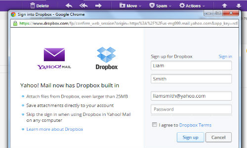Yahoo Mail, Dropbox Join Hands to Bring an End to Attachment Limits
