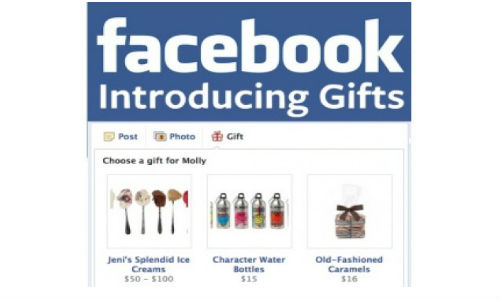 Facebook Gifts Service Introduced To India, UK and Canada