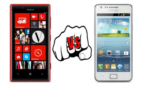Nokia Lumia 720 vs Samsung Galaxy S2 Plus
