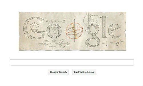 Google Celebrates 306th Birthday of Leonhard Euler With Geeky Doodle