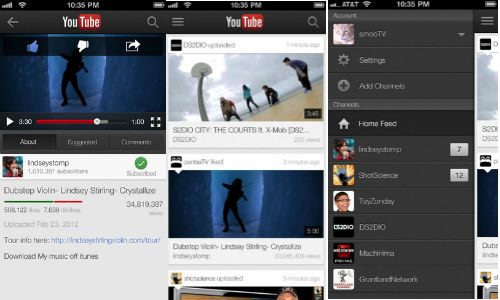YouTube For iOS Updated With Live Streaming, My Subscription Feed