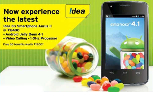 Idea Aurus 2: Dual SIM 3G Android Jelly Bean Phone Launched at Rs 6490