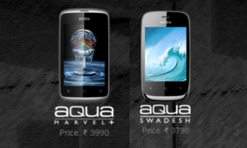 Intex Aqua Marvel+, Swadesh Launched at Rs 3990 and Rs 3790