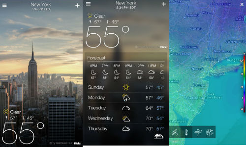 Yahoo Launches Weather and Mail App