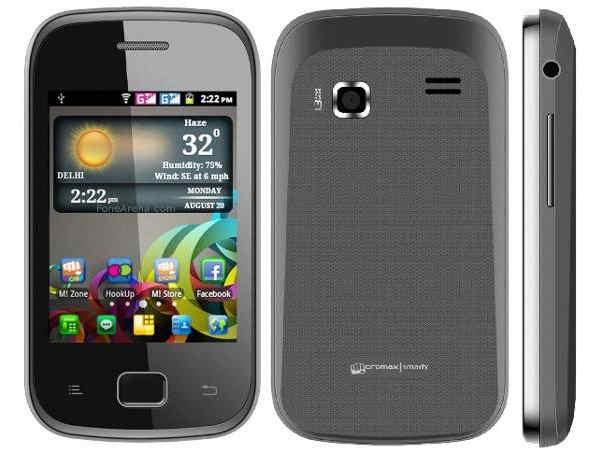Micromax A25 Smarty: