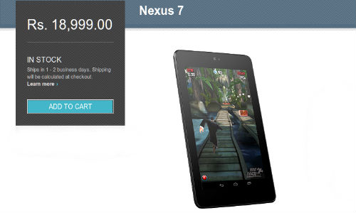 Nexus 7: 32GB Wi-Fi Now Available on Google Play Store For Rs 18999