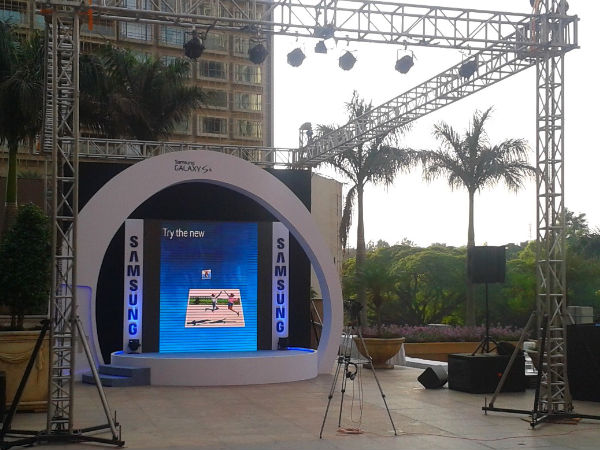 On Location Samsung Galaxy S4 Release Prep at Bangalore in India