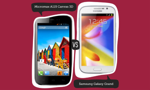 Micromax A115 Canvas 3D vs Samsung Galaxy Grand Duos