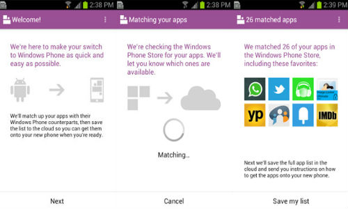Microsoft Releases Switch to Windows Phone Android App