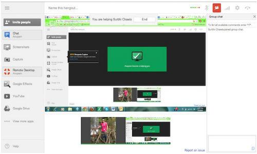 Google+ Hangout Gets Remote Desktop Feature Similar To Chrome