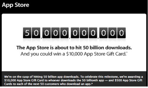 Apple Nears 50 Billion Downloads: Outs Top 25 All Time Apps