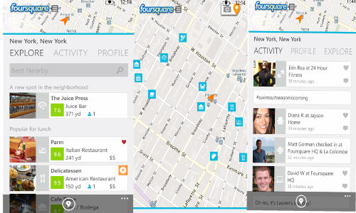 Redesigned Foursquare App for Windows Phone 8 Unveiled