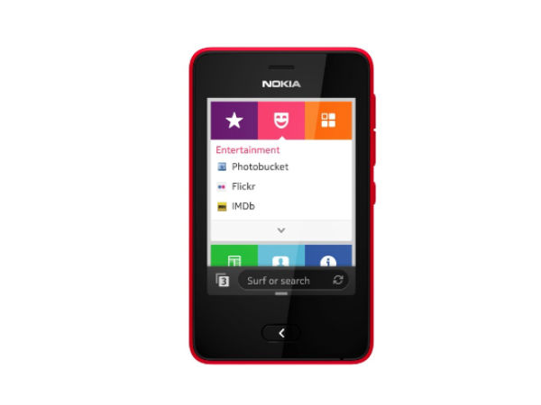 Nokia Asha 501 Red Front