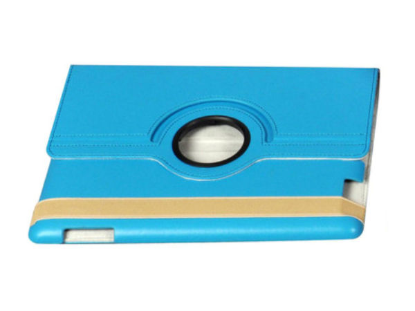 Bling PU Swivel Case with Screen Protector for iPad 2/3