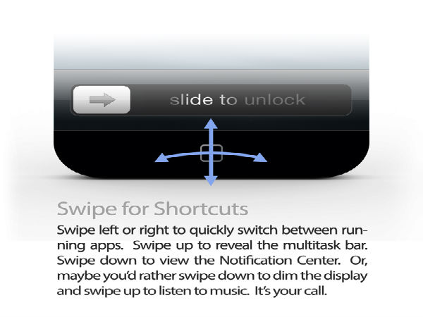 Swipe for Shortcuts