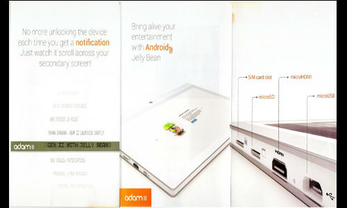 Notion Ink Adam 2 Tablet With 10.1 Inch Display Coming in June 2013