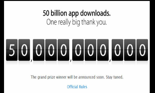 Apple Sets 50 Billion Apps Download Record: $10,000 Winner Crowned