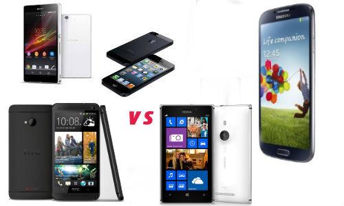 Xperia Z Vs Galaxy S4 Vs Iphone 5 Lumia 925 vs iP...