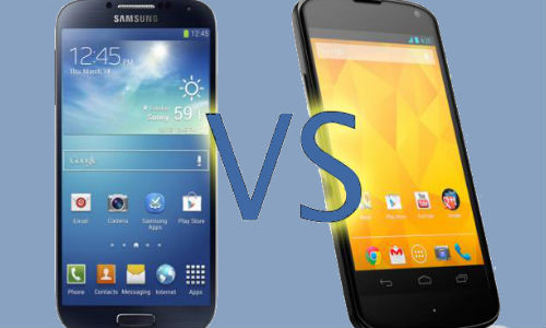Samsung Galaxy S4 Nexus Edition vs LG Nexus 4: Brave Battle Warriors