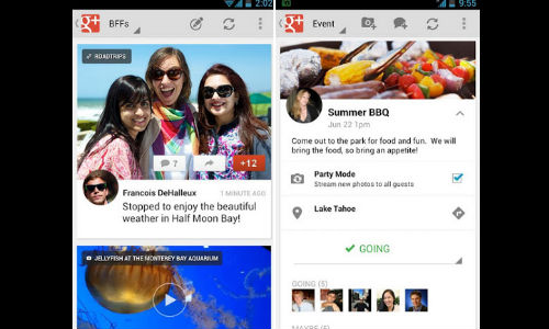 Google+ App for Android Updated With New Stream, Locations and More