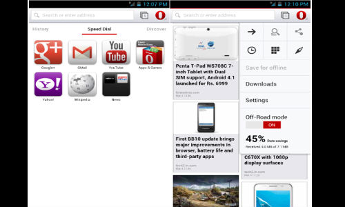 Opera 14 for Android Handsets Is Out Now: Gets Overhauled New UI and Added Features