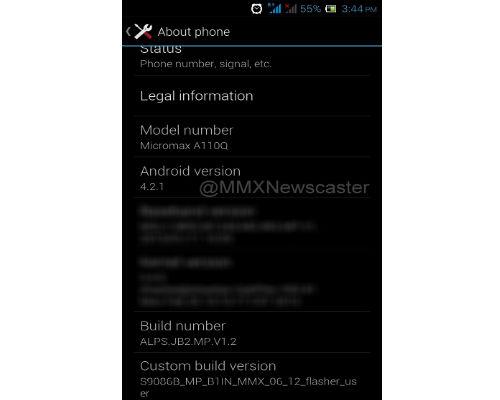 Micromax A110Q Screenshot Leaks: Canvas 2 Quad Core Successor Coming?