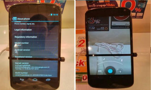 Nexus 4 Running On Android 4.3 Spotted In Thailand Mobile Expo 2013