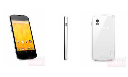 White Nexus 4 Official Press shots Leak Online
