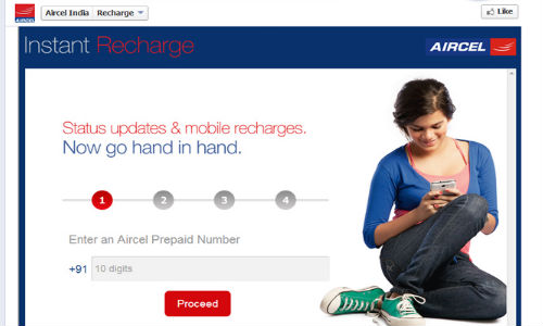 Aircel Mobile Recharge App for Facebook Announced