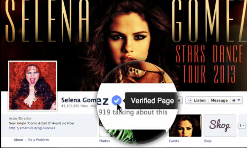 Facebook Unveiled Verified Pages Feature for Celeb Accounts
