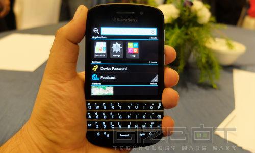 BlackBerry Q10 First look: The Keyboard Is The Key