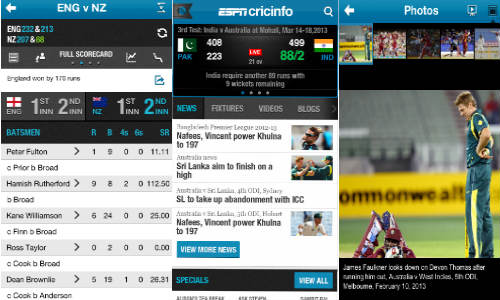 ESPNCricinfo App for Apple iPhone Launched Android Version Coming Soon