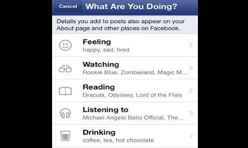 Facebook App For iOS Updated:  Allows Users To Add Emoticons