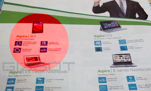 Acer 8 Inch Windows 8 Tablet Spotted On Croma Catalogue in India