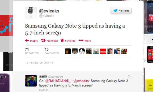 Samsung Galaxy Note 3 to Sport 5.7 inch Display