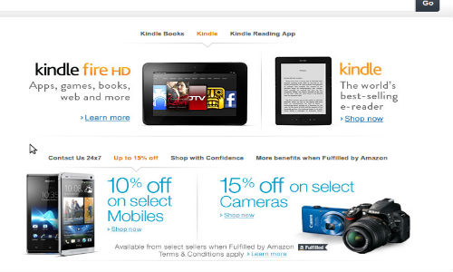 Amazon India Launches Stores For Mobiles, Cameras and more