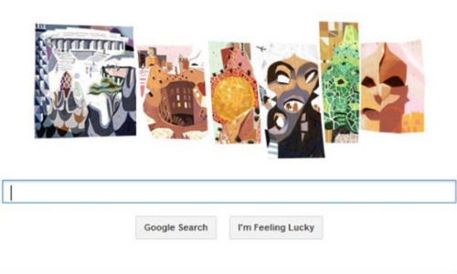 Google Celebrates 161st birthday Of Antoni Gaudi With A Doodle