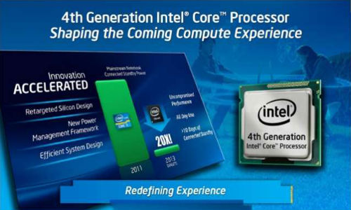4th Generation Intel Core Processors Launched In India