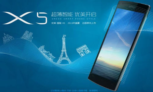 Umeox X5 Smartphone Beats Huawei Acend P6 in the Slimmest Title
